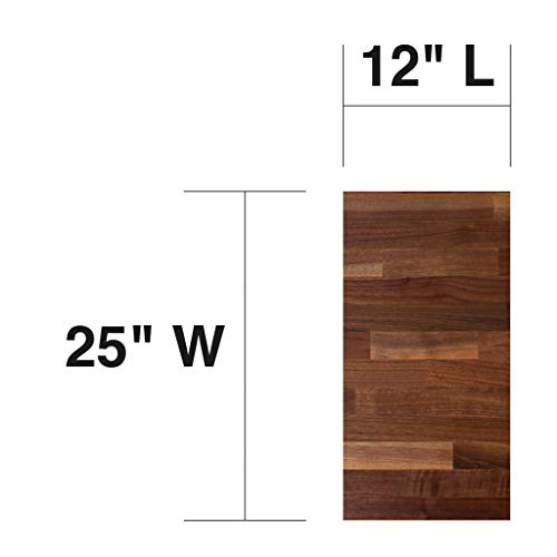 John Boos WALKCT-BL1225-O Blended Walnut Counter Top with Oil Finish, 1.5