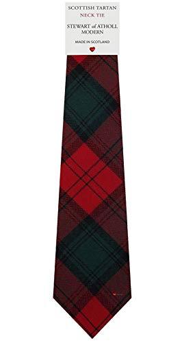 I Luv Ltd Cravate en Laine pour Homme Tissée et Fabriquée en Ecosse à Stewart of Atholl Modern Tartan