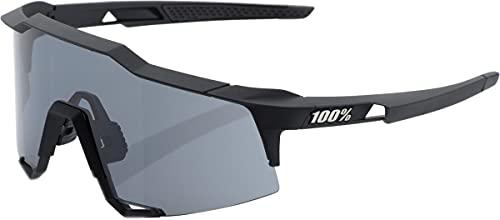 100% Speedcraft Sport Performance - Gafas de sol deportivas y de ciclismo, (Lente ahumada negra de tacto suave.), Talla única
