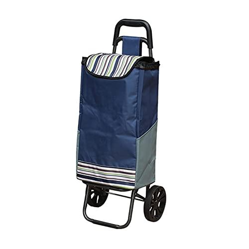 Carro de La Compra Carrito de la escalera de la escalera de la colcha de la colcha de las compras plegable con tres ruedas silenciosas y la bolsa de lona extraíble Carrito de La Compra Plegable