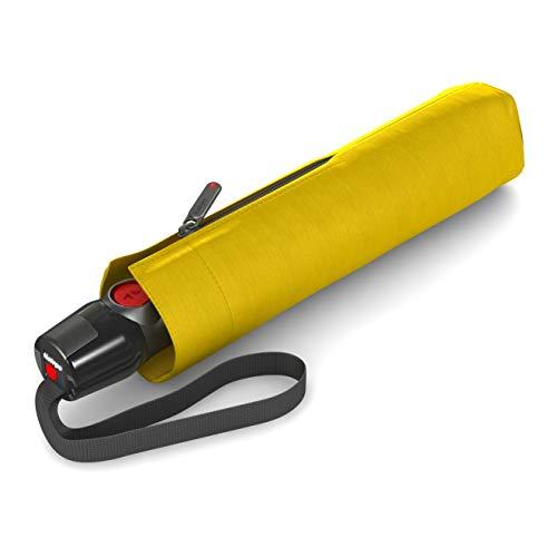 Knirps Taschenschirm T.200 Duomatic Solids – Auf-Zu-Automatik – Faltbar – Sturmfest – Windproof – Gelb