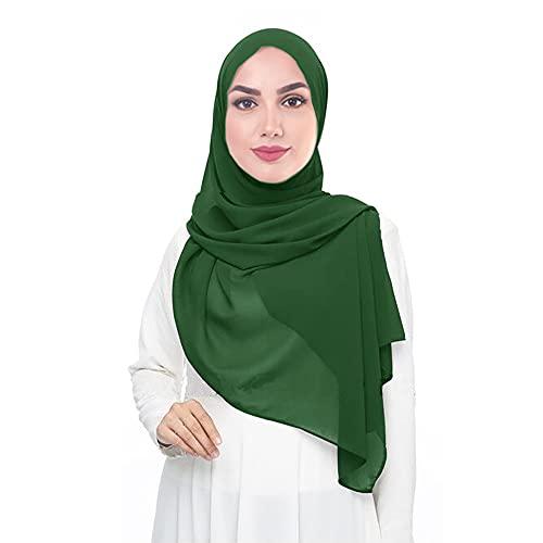 Lina & Lily Lina & Lily Damen Muslim Chiffon Hijab Kopftuch Schal (Smaragdgrün)