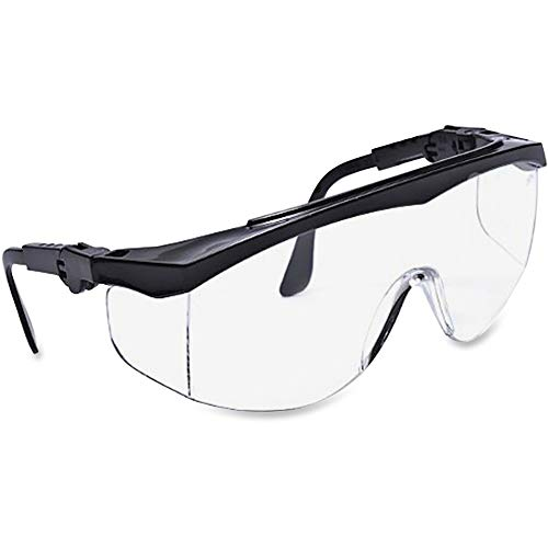 MCR Safety TK110 Protective Glasses, Adjustable, 5 Positions, Black/Clear