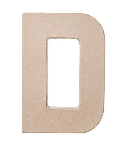 Paper Mache Letter - D - 8 x 5.5 x 1 inches