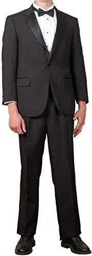 Broadway Tuxmakers Mens 2 Pc. Black Notch Collar Tuxedo Suit (48L)