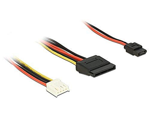 DeLOCK 84932 Adaptador de Cable Floppy 4p SATA 15p, Slim