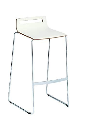 Sedus meet chair - Sgabello da bar in legno, colore: Bianco