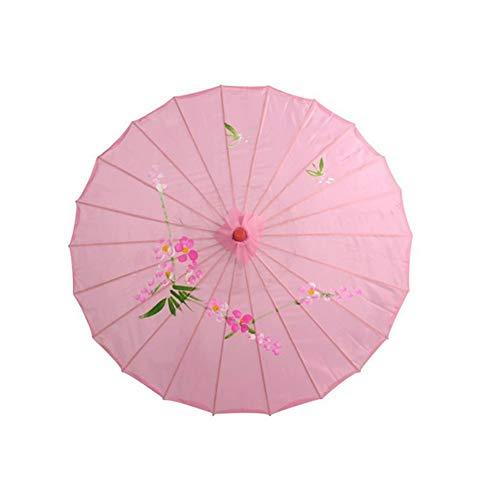 GREENLANS Seidenschirme, Chinesische Vintage Klassische Handgemachte Öl Papier Regenschirm Holzgriff Hochzeit Dekor Foto Sonnenschirm Tanz Requisiten Rosa