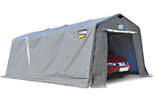 Garage Zelt Store Boss 3,3 m x 6,2 m Anthrazit| Wasserdicht | Aus verzinktem Stahl und Polyethylen Einfache Montage