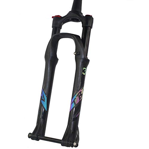 Horquilla de suspensión MTB 27.5/29 Pulgadas Horquilla Delantera para Bicicleta de montaña Viajes 140 mm Control de Hombro Presión de Aire Amortiguador Freno de Disco Aluminio Aleación de magnesio