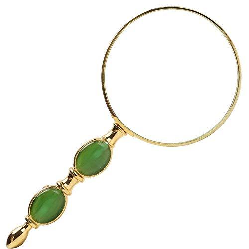 AI LI WEI Magnifier vergrootglas, HD-handvergrootglas, oude bladbladen, optische spiegel, groen -80 * 180 mm vergrootglas
