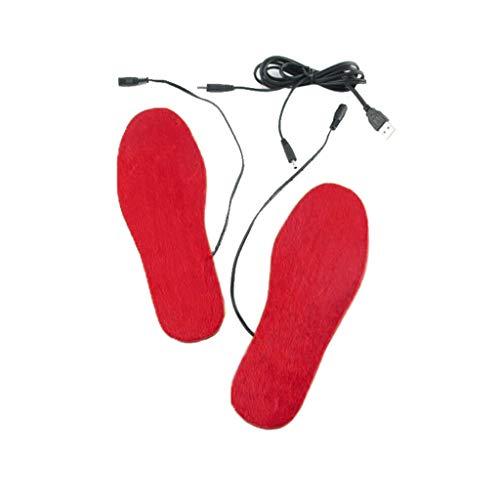 planuuik 1Pair USB-Heizschuh Pad Unisex Outdoor Sports Ski beheizte Einlegesohlen Recyc verwenden