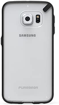 PureGear Slim Shell Case for Samsung Galaxy S6 Edge Clear Black product image