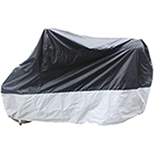 Funda para Bicicleta Exterior Cubierta de motocicleta impermeable, lluvia de polvo transpirable al aire libre UV Cubierta protectora de moto con bolsa de almacenamiento ( Size : 295*110*140cm )