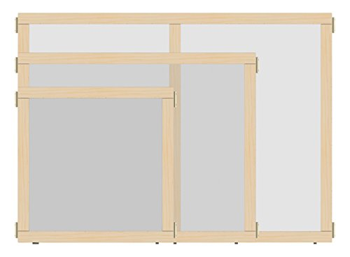Jonti-Craft KYDZ Suite 1512JCEPL Panel, E-Height, 36' Wide, See-Thru