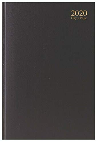 Tallon 2020 Diary A4 Day a Page Value Range Personal Organiser Hardback Cover (Black)