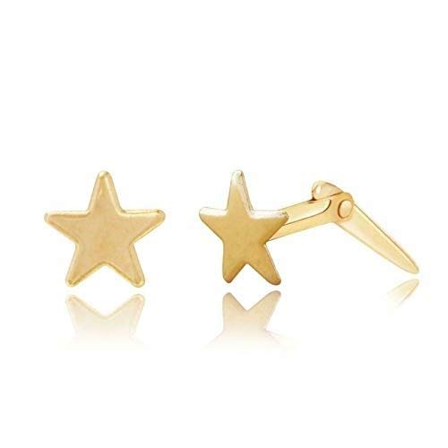 9ct yellow gold 5mm star Andralok stud earrings/Gift box