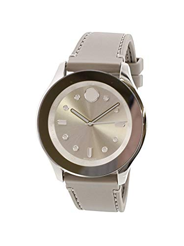Price comparison product image Movado Bold Silver Dial Grey Silicone Ladies Watch 3600412