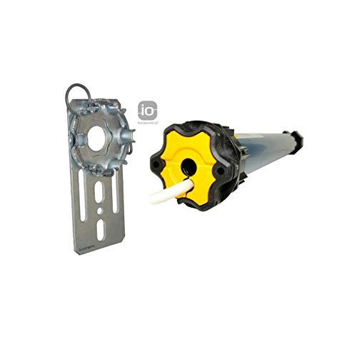 smarotech® Nachrüstset zum Modernisieren von Gurt/Kurbel auf Somfy Rollladenmotor Oximo 50 io 6/17 (bis 2,6 m²) + Fertigkastenlager