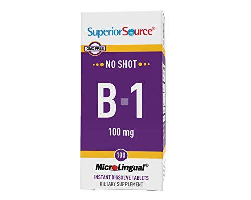 Superior Source Vitamin B1 (Thiamin), 100 mg, Under The Tongue Quick Dissolve Sublingual Tablets,...