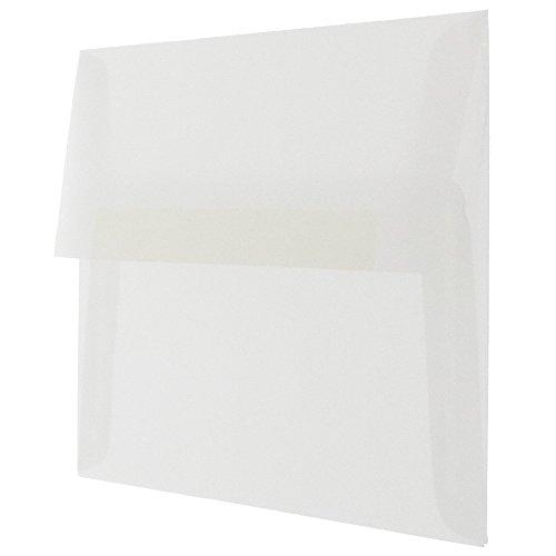 "JAM Paper A7 Invitation Envelope - 5 1/4"" x 7 1/4"" - Clear Translucent Vellum - 25/pack Photo #2"
