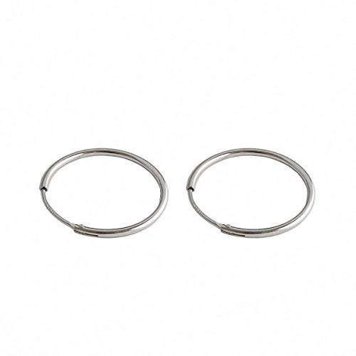 MOM Stud Solid Sterling Silver Earrings Personality Simplicity Round Circle Earrings Natural Creative Popular Handmade Unique Jewellery Gift for Women 15 Mm,20 Mm