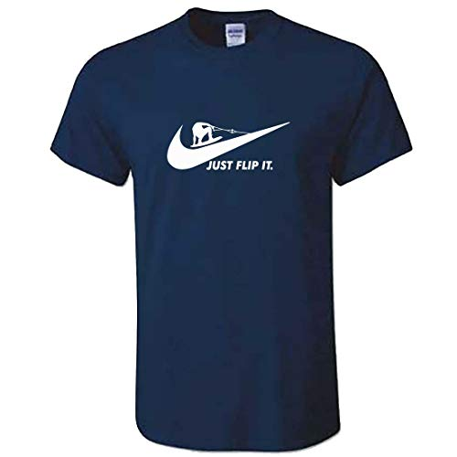Unisex Wakeboard-T-Shirt – Just Flip It – Wakeboard Gr. M, navy