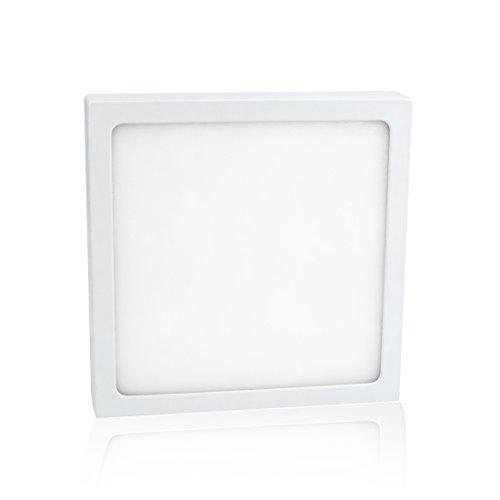 Preisvergleich Produktbild LED Decken Panel - Aufputzleuchte Weiß quadratisch (140x140x24 mm),  12W,  warmweiß,  900lm - flache Bauweise inkl. Trafo