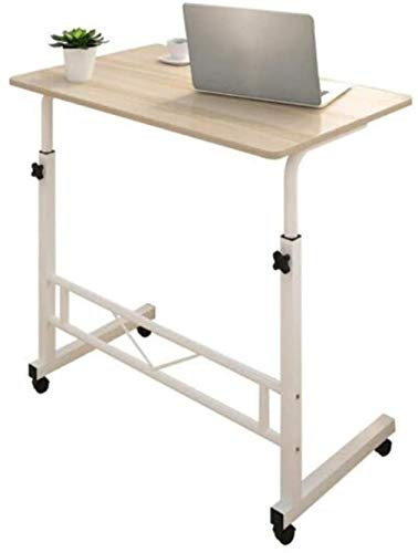 XY-M Tabellen Magazin Snack Sofa Seitenräder, Computer-Schreibtisch-C-förmigen Überlast Tragbarer Lifter Höhenverstellung (Farbe, Weiß Maple),Weiß Maple Farbe