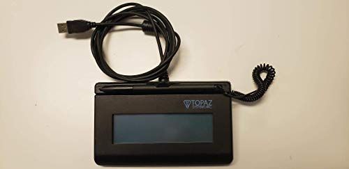 Topaz SigLite T-LBK460-HSB-R 1x5 LCD Signature Capture Pad USB Connection (Backlit)