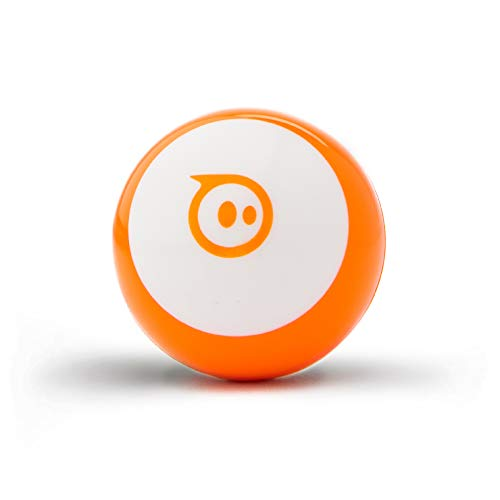 Sphero Mini (Orange) App-Enabled Programmable Robot Ball - STEM Educational Toy for Kids Ages 8 & Up - Drive, Game & Code with Sphero Play & Edu App, 1.57