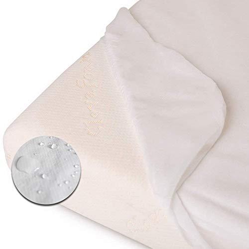 MIMUSELINA. Funda Protectora Colchón (mini cama). Protector antiescapes. Cubre colchón de rizo de algodón impermeable y transpirable. Funda de colchón para dejar el pañal protector anticalado (70x160)