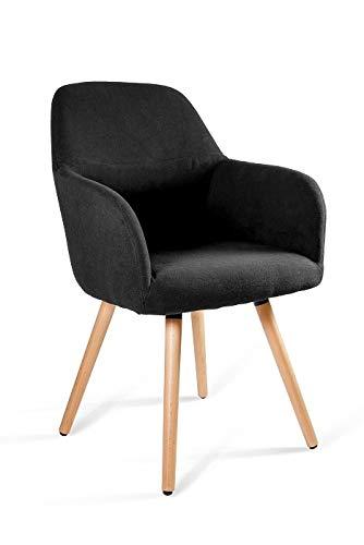 UNIQUE DESIGN FOR PEOPLE - Line - Silla de Conferencia sillón butaca - Negro