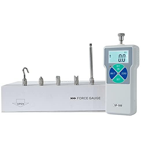 Beslands SF-500 Digital Force Gauge Push and Pull Tester Dynamometer Pressure High Precision LCD Measuring Instruments Thrust Meter Simple Portable (2N-500N)