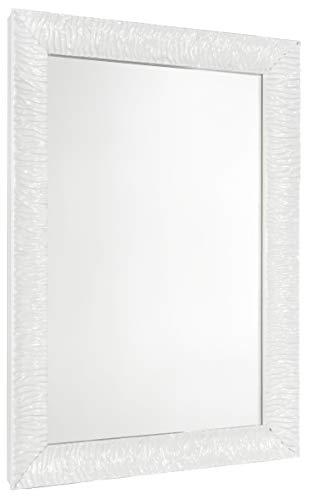 GaviaStore - Julie 70x50 cm - Espejo de Pared Moderno - Muebles para el hogar Arte decoración Sala de Estar Salon Modern Dormitorio baño Cocina Entrada Wall (Blanco)