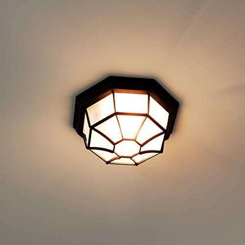 *Außen Deckenleuchte Schwarz rustikal wetterfest E27 MILANO maritime Außenlampe Balkon Terrasse Haus*
