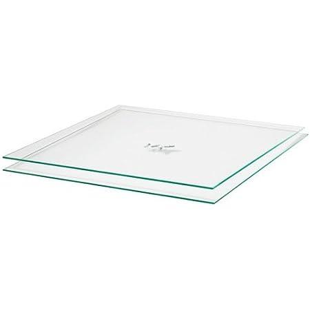 Einscheibensicherheitsglas nach DIN 300 x 300 mm Glasplatten ESG 8mm Nach Ma/ß bis 30 x 30 cm Ecken gesto/ßen biege- und sto/ßbelastbar. Kanten geschliffen und poliert klar durchsichtig