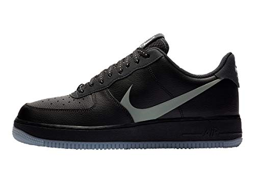 Nike Herren AIR Force 1 \'07 LV8 3 Basketballschuh, Black Silver Lilac Anthracite White, 42 EU