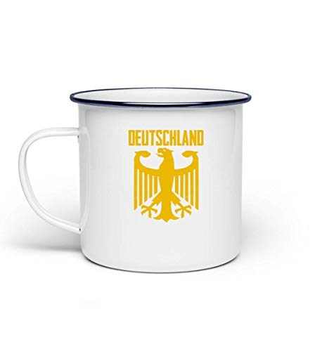 Cooles Bundesadler Adler Deustchland - Bundeswehr Stolz Flagge Grundgesetz Bundestag Staat - Emaille Tasse