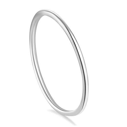 Stapel Ringe,Damen,925 Sterling Silber (Rose Gold, 52 (16.6))