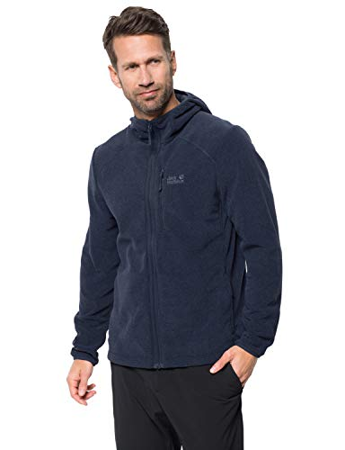 Jack Wolfskin Herren Skywind Hooded Fleecejacke, Night Blue, 2