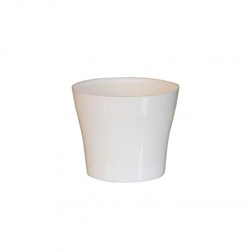 Plastkon Décoration Pot Tulipan Diamètre 15 cm Blanc