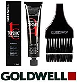 Goldwell Topchic Permanent Hair Color, 2.1 oz tube (with Sleek Tint Color Brush) (5NN Light Brown Extra Cover Plus)