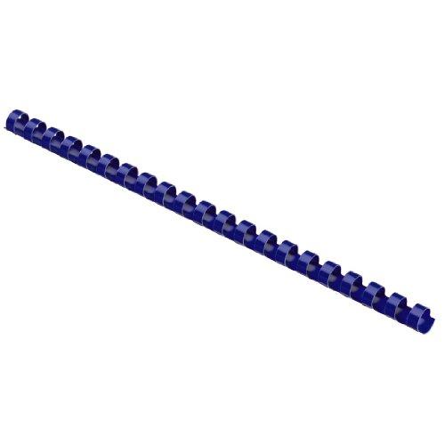 Hama–Canutillos de plástico redondos (con 21anillas, 8mm, 25unidades), color azul