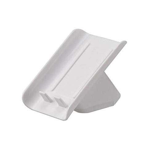 BABAAN Caja de jabón con Forma de Hoja Creativa Baño Soporte de jabón de Drenaje Contenedor de Almacenamiento Productos de baño Platos de jabón portátiles-Blanco