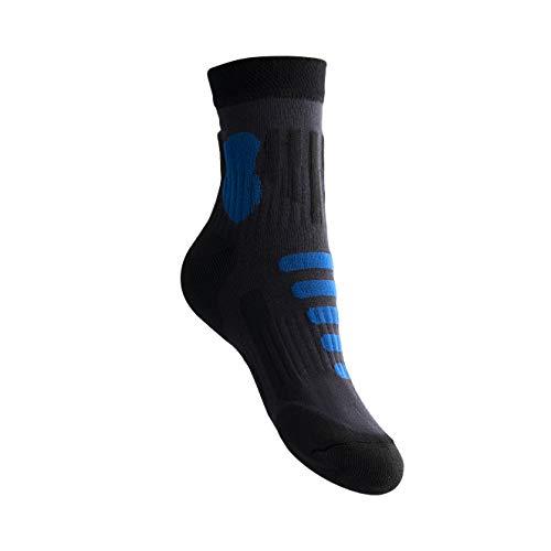 MyDeer Wandersocken, Vollfrottee Socken, Wintersocken mit Thermo Effekt, Trekkingsocken für Herren und Damen, viele Größen, Atmungsaktive Socken, Anti-Blasensocken, Antibakteriell (blau, 42-45)