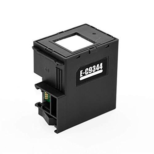 Nuevos Accesorios de Impresora C9344 C9344E 9344 Caja de Mantenimiento de Tinta Compatible with Epson XP-4105 XP-2100 XP-2101 XP-3100 XP-4100 Xp-4101 WF-2810 WF-2830 WF-2850 WF-2851 (Color: Chip)