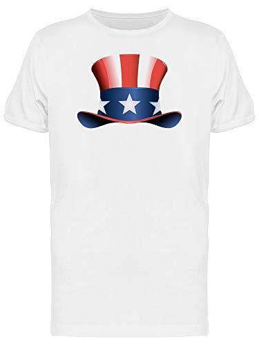 4Th Of July USA Independence Hat Camiseta masculina, Branco, XG