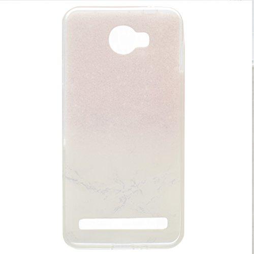Funluna Huawei Y3 II / Y3 2 Hülle, Transparent Weiche TPU Silikon Handyhülle Feder Muster Hülle [Crystal Klar] TPU Bumper Case Schutzhülle für Huawei Y3 II/Huawei Y3 2 - Marmor - 5