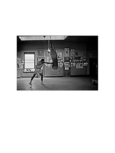 "Funny Ugly Christmas Sweater Muhamm Ali Poster Prints Iconic Boxer Ali Art Printed Art Black and White Pictures Muhamm Ali Boxing Monochrome Photo Decor Sport Gym 24"" x 36"""